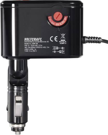 Szivargyújtó adapter, állítható autós tápegység 3-12V 3A 41W Voltcraft SMP-36