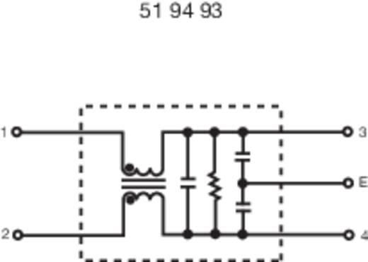 Hálózati szűrő125/250V 3A L 2X1.8MH