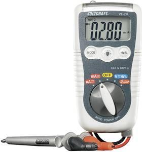 Digitális multiméter, mérőműszer, beépített LED-es zseblámpa 600V AC/DC max.200mA AC/DC VOLTCRAFT VC-20 HEAVY-DUTY DMM (VC-20) VOLTCRAFT