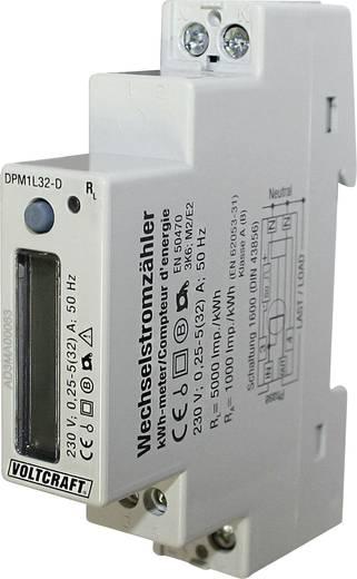 DIN sínes váltakozó áramú digitális fogyasztásmérő 32 A, VOLTCRAFT DPM1L32-D Plus