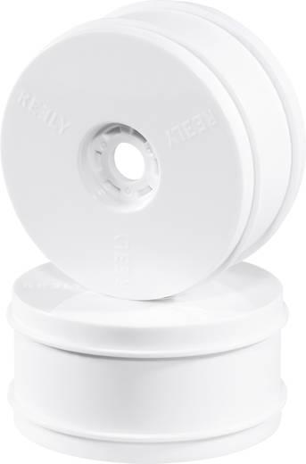 Reely 1:8 Komplett kerék Disk Fehér 1 pár