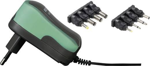 Univerzális hálózati adapter, dugasztápegység 3 - 12 V/DC 600mA energiatakarékos, zöld Voltcraft USPS-600 green