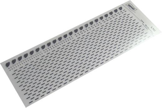 SENO SENO szimbólumon nyomtatott áramkörökhöz Vonalvastagság: 1,5 mm Ívméret 90 x 250 mm Fekete