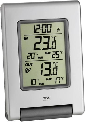 Vezeték nélküli hőmérő órával, TFA IT Easy Base
