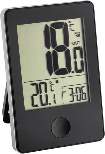 Vezeték nélküli hőmérő órával, fekete, TFA