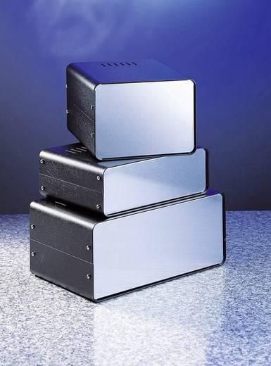 Ház két fél héjból GSS03 doboz: acél, 1,5 mm-es /alumínium előlap: 2 x 1 mm (Sz x Ma x Mé) 200 x 70 x 150 mm, fekete