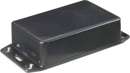Hammond Electronics Euro műanyag műszerház peremmel, 121x94x34 mm, fekete, 1591GFLBK
