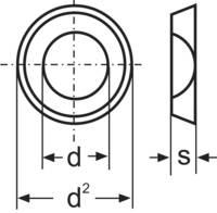 Lapos alátét DIN 125 ZN B 4.3, 100 részes (194699) TOOLCRAFT