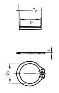 Horganyzott acél biztosító gyűrű (seeger), 9 mm, DIN 471, 100 db, Toolcraft TOOLCRAFT