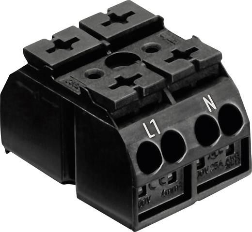 Szigetelt sorkapocsblokk 2 pólusú, 0,5 - 4 mm² 32A, fekete, WAGO 862-1552