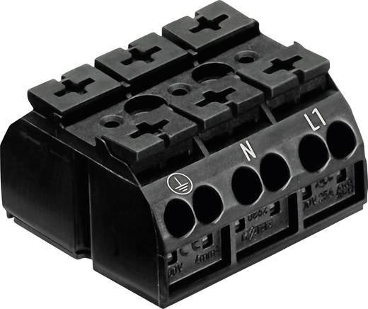 Szigetelt sorkapocsblokk 4 pólusú, 0,5 - 4 mm² 32A, fekete, WAGO 862-1503