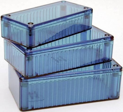 Átlátszó kék polikarbonát ház 112x62x31 mm