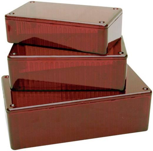 Átlátszó piros polikarbonát műszerház 100x50x25 mm Hammond Electronics 1591 BTRD