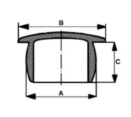 PB Fastener Tömítődugó / lyukelzáró dugó Fekete (A x B x C) mm 8 x 12 x 7,4