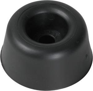 Csavarozható műszerláb, fekete, kerek Ø 20 x 13 mm, PB Fastener 100495 PB Fastener