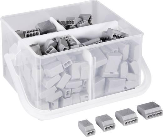 Vezetékösszekötők dobozban, 2-3-4-5 pólus, 0,25 - 2,5 mm² 24A, szürke, 245 db