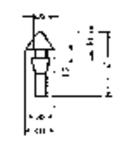 Furatba nyomható műszerláb, fekete, Ø 10 x 14,5 mm, PB Fastener 1300-01