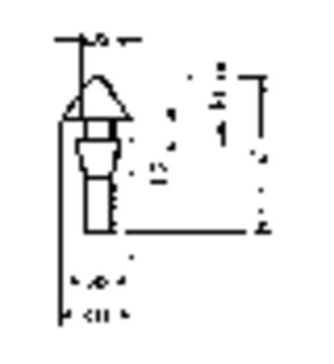 Furatba nyomható műszerláb, kerek Ø 15 x 9,6 mm, fekete, PB Fastener 1345-01