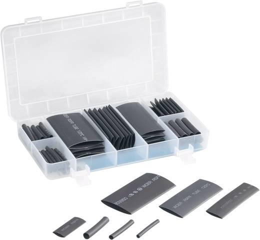 Zsugorcső javító készlet, fekete, 63 részes, Tru Components