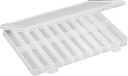 20 részes alkatrésztároló doboz, fehér, 250 x 180 x 24 mm