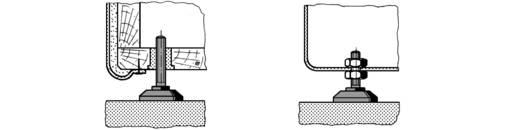 Csavaros műszerláb Ø 38 x 60 mm, fekete, PB Fastener 148 3805 699 11