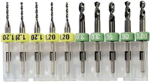 Keményített fém fúró 1 mm 10 db, Bungard