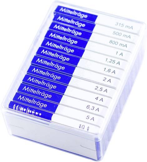 ESKA Biztosítékcsomag 6,3 x 32 mm Középlomha -mT-Tartalma 120 db.