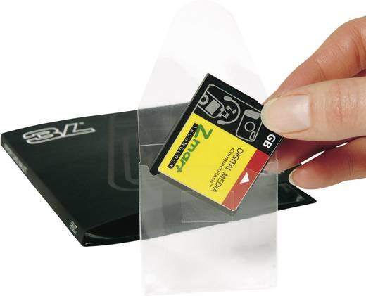 Öntapadós memóriakártya táska, 10240 52,5x58 mm, átlátszó, PP, 10 db, 3L