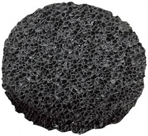 Öntapadós műszerláb, kerek Ø 10 x 2,7 mm, fekete, WeroPlast