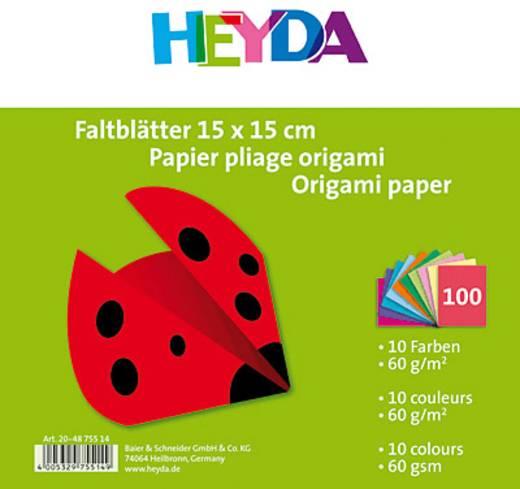 Heyda hajtogatós papírok/204875514 15x15 cm szortírozva 60 g/qm, 100 db