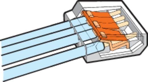Vezetékösszekötő 8 vezetékes, 0,75 - 1,5 mm² 18A, átlátszó, 1 db, WAGO 273-158