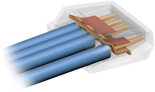 Vezetékösszekötő 3 vezetékes, 0,75 - 1,5 mm² 18A, átlátszó, 1 db, WAGO 273-153