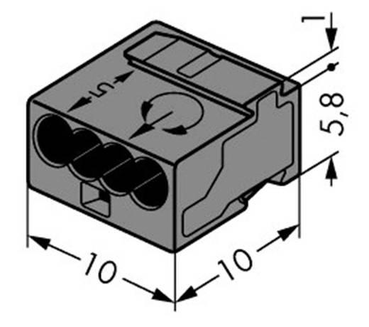 Mikró vezetékösszekötő 4 vezetékes, 0,6 - 0,8 mm² 6A, sötétszürke, 1 db, WAGO 243-204