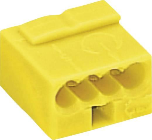 Mikró vezetékösszekötő 4 vezetékes, 0,6 - 0,8 mm² 6A, sárga, 1 db, WAGO 243-504