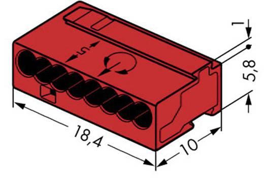 Mikró vezetékösszekötő 8 vezetékes, 0,6 - 0,8 mm² 6A, piros, 1 db, WAGO 243-808
