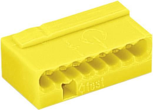Mikró vezetékösszekötő 8 vezetékes, 0,6 - 0,8 mm² 6A, sárga, 1 db, WAGO 243-508
