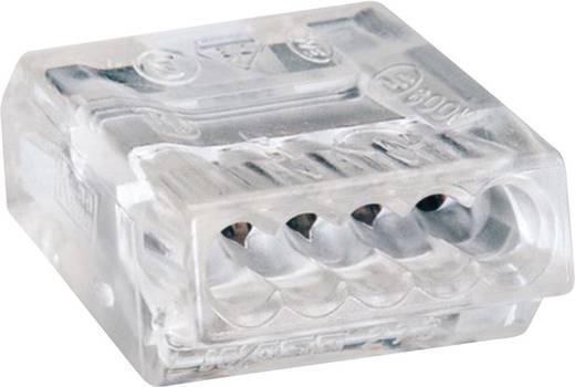 Vezetékösszekötő 5 vezetékes, 0,75 - 1,5 mm² 18A, átlátszó, 100 db, WAGO 273-155/VE00-100