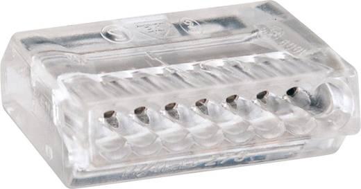 Vezetékösszekötő 8 vezetékes, 0,75 - 1,5 mm² 18A, átlátszó, 50 db, WAGO 273-158/VE00-050