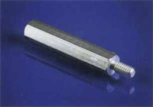 Távtartó csap 25 mm 1 x külső menet/1 x belső menet Nikkelezett sárgaréz