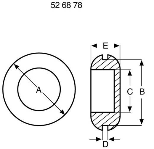 Richco Lezáró dugók DGB-2,5 Fekete (A x B x C x D x E) mm 9,5 x 6,4 x 4,0 x 0,8 x 3,5