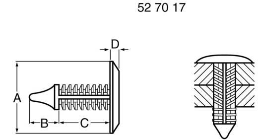 PB Fastener Alaplap tartó 354-9052-0010 Alaplap méret 1.8 - 5 mm Műanyag