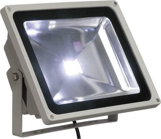 LED-es kültéri fényszóró, kültéri izzó 50 W ezüst fixen beépített LED IP65 SLV 231121