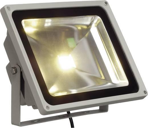 LED-es kültéri fényszóró, kültéri izzó 50 W Ezüst-szürke fixen beépített LED IP65 SLV 231122