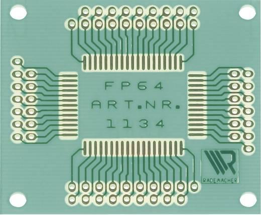 WR Rademacher Laborkártya adapter FP-64 dobozhoz, RM 2,54 mm EP, réz bevonattal, ónozott, szigetelő lakkal