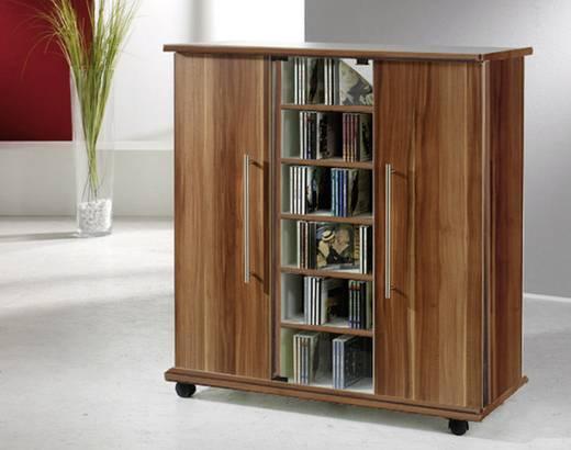CD, DVD tároló szekrény 900db CD vagy 390db DVD tárolására VCM 10795