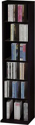 CD, DVD tároló szekrény 102db CD vagy 36db DVD tárolására, fekete színű VCM 12050