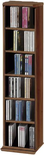 CD, DVD tároló szekrény 102db CD vagy 36db DVD tárolására, dió színben VCM 12052