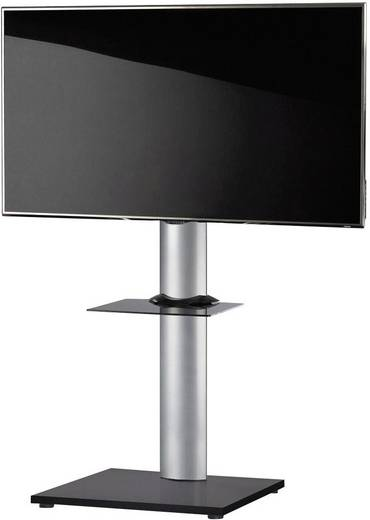 TV tartó állvány alumíniumból, fekete színben VCM Onu 17028