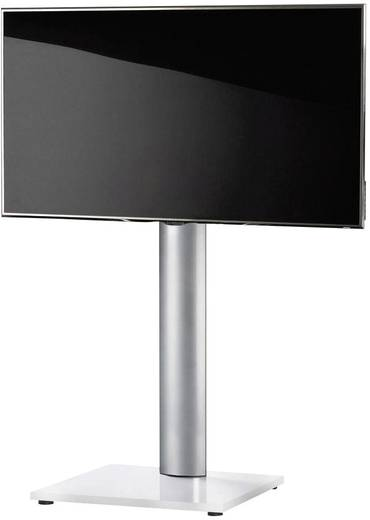 TV tartó állvány alumíniumból, fehér színben VCM Onu 17031