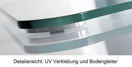 TV tartó állvány alumíniumból, fehér-ezüst színben VCM Zental 17075